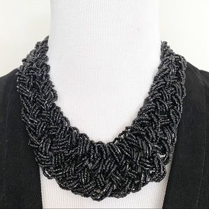 🎉5/20 SALE🎉 black braided seed bead necklace